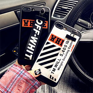 Off White iPhone8ケース 鏡面