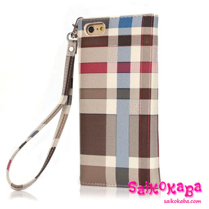iphone6sカバー burberry puレザー チェーン付き