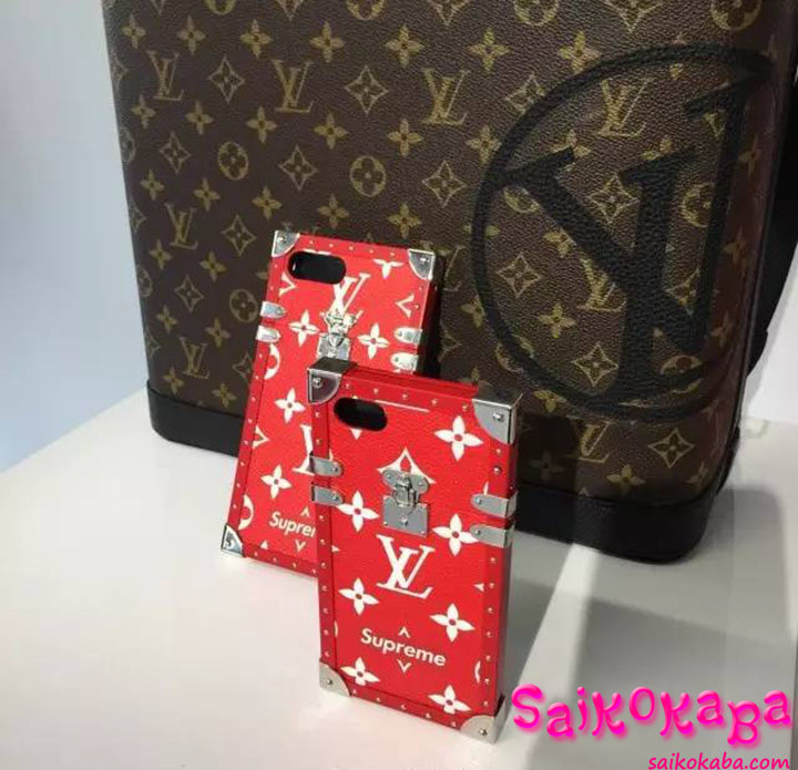 Louis Vuitton Supreme iphone6s plus ケース オシャレ