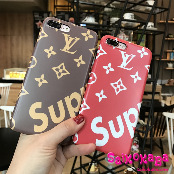 lv supreme iphone7ケース ペア