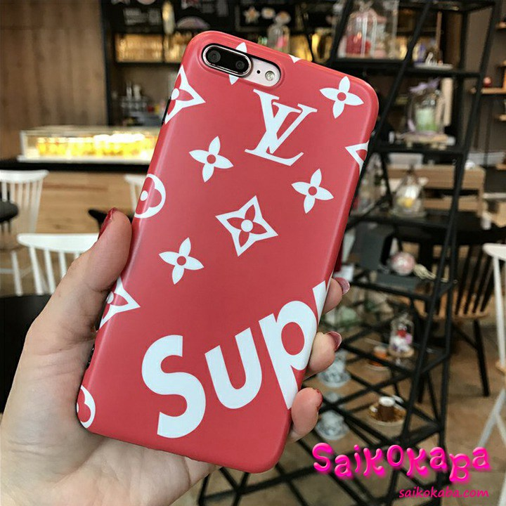 iPhone8 Plus ケース LV SUPREME TPU