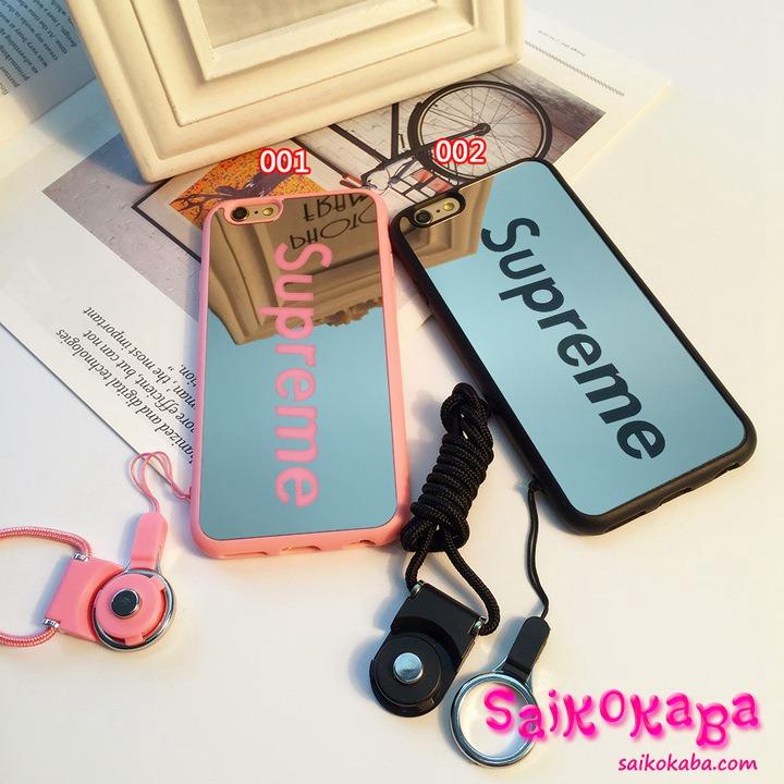 シュプリーム iPhone8 plusカバー 鏡面