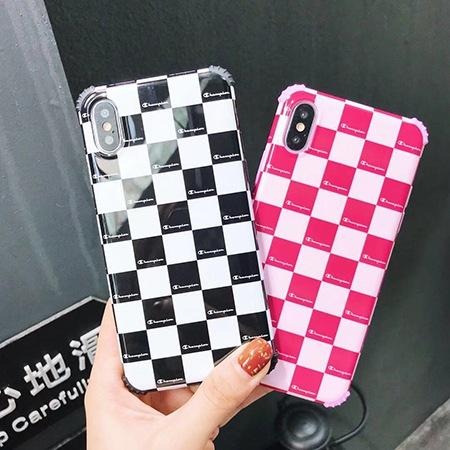 チェック柄 チャンピオン iPhoneX 携帯ケース