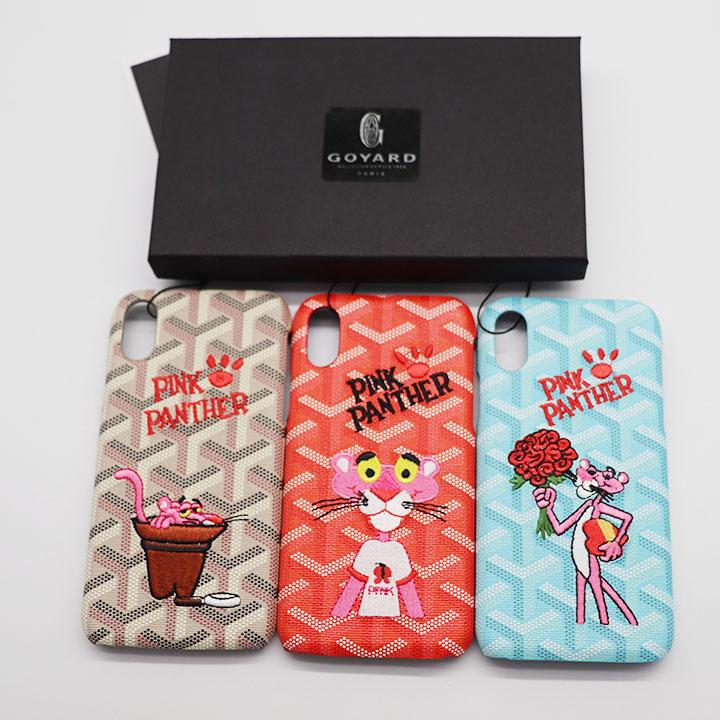 ゴヤールxピンク パンサー iphoneX携帯ケース