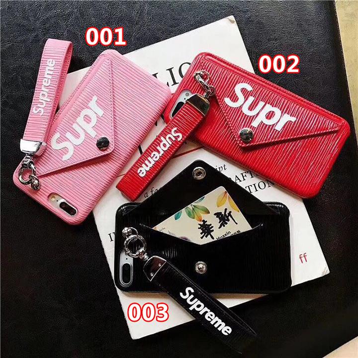 Supreme iphonex 財布付きカバー