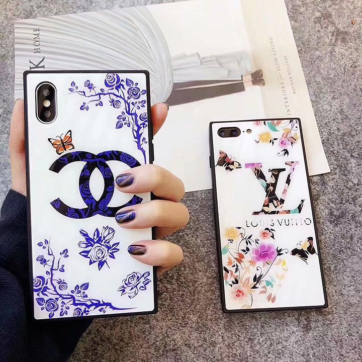 CHANEL X LV コラボ iPhoneXケース 花柄