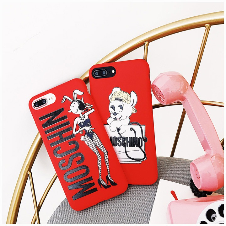 MOSCHINO iphonexケース バニーガール