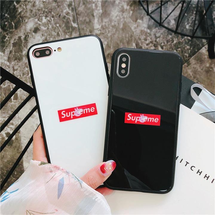 supreme iPhoneXケース 鏡面