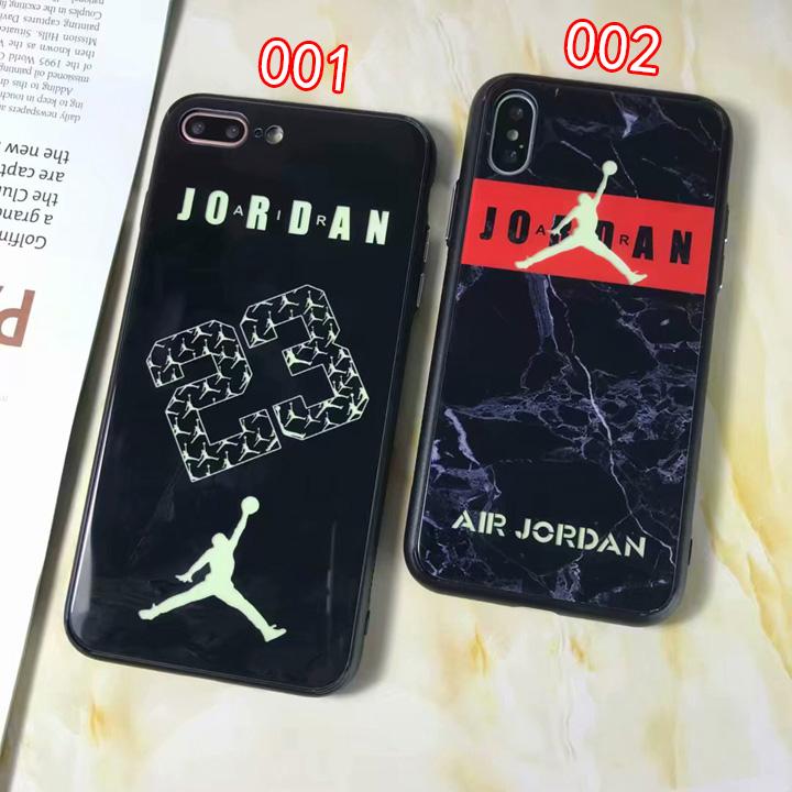 夜光 jordan iPhoneX ガラスケース