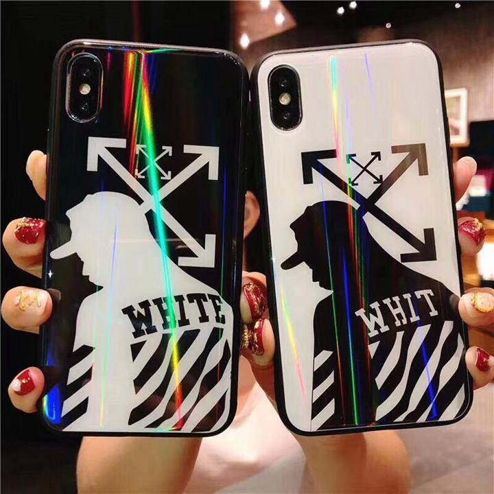 かっこいい iPhoneXs ガラスケース オフホワイト