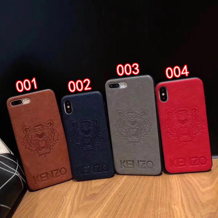 ケンゾー iPhoneXs MAXカバー エンボス加工